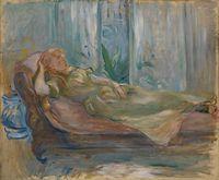 MORISOT Berthe (1841-1895) « Jeune fille au divan » Don: VOLLARD Lucien