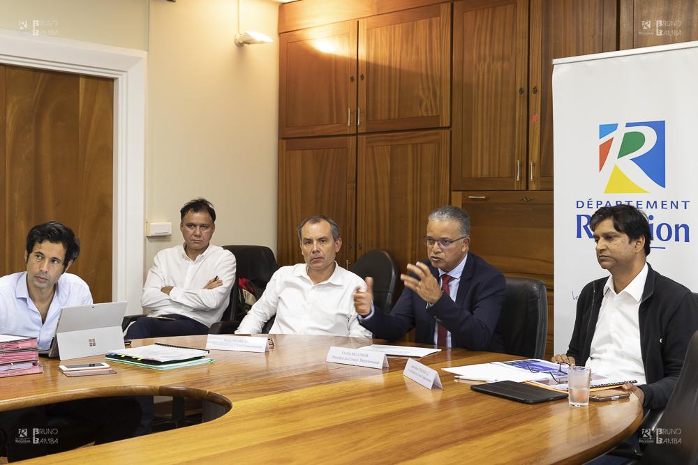 Le Président du Conseil départemental Cyrille Melchior a donné une conférence de presse à l'issue de l'assemblée plénière