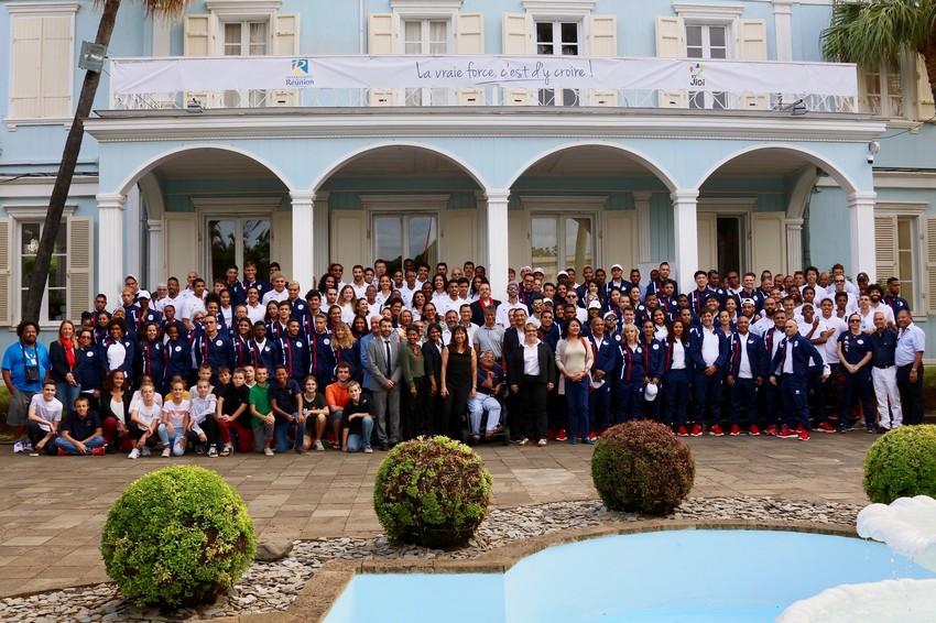 la délégation réunionnaise pour les jeux des iles 2019 , reçue à la Villa du Département