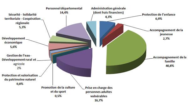 Graphique des dépenses