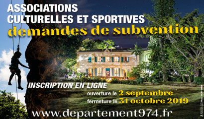 affiche de la demande de subvention