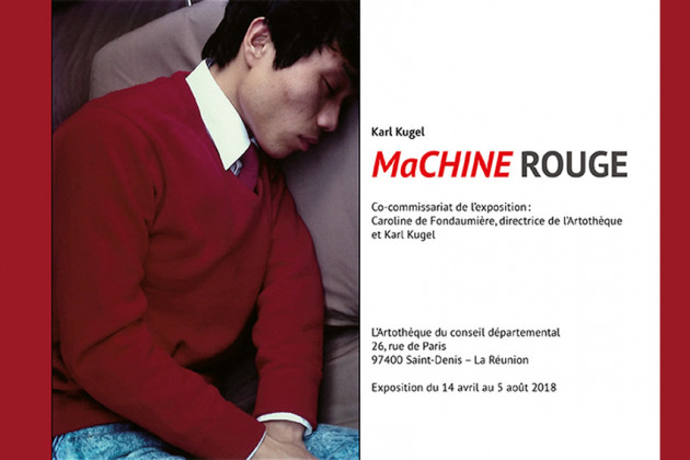affiche de l'exposition machine rouge