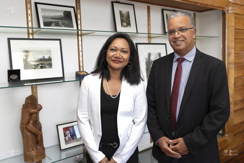 Mialy ANDRIANIVO Consule de Madagascar reçue par le Président du Conseil départemental Cyrille MELCHIOR