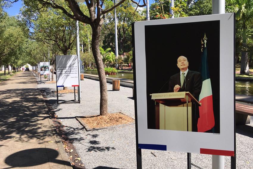 Exposition sur Jacques Chirac au Jardin de l'Etat
