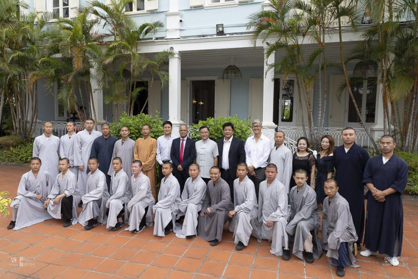 L'une des meilleures troupes de Kung-Fu chinois et des arts martiaux de Shaolin a visité la Villa du Département.